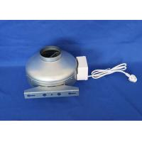 China Electric 2500rpm Industrial Inline Exhaust Fans With Galvanized Sheet Body  Hydroponic on sale