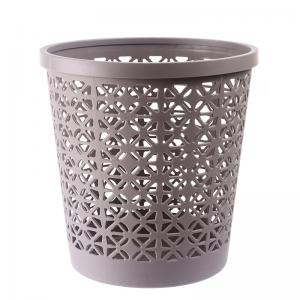 China Hollow Out Small Plastic Wastebasket With Lids Pressure Rings on sale