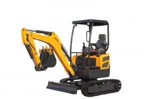 China WY20H canopy Kubota engine mini crawler excavator with pipeline system on sale