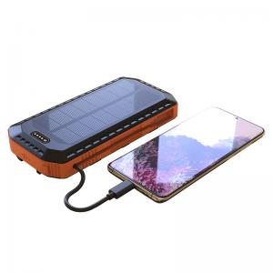 China 20000mAh 5V1A 5V2A Camping Solar Power Bank / Solar Panels Phone Charger on sale