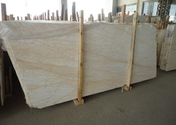 Custom Cut Golden Spider Marble Floor Slabs For Corridor Balcony Images