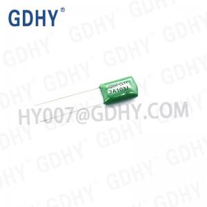 China 0.01UF 1000V 5% Metallized Polyester Film Capacitor CL11 2J103J on sale