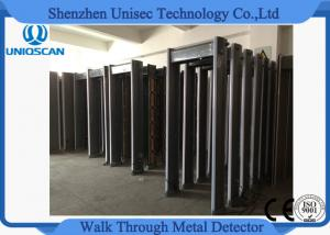 China Gray Pass Through Metal Detector , Multi Zone Metal Detector IP65 Protection  on sale