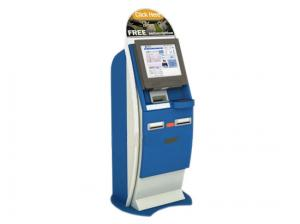 China Self Service Touch Screen Account Information Access Bill Payment Terminal Lobby Kiosk on sale