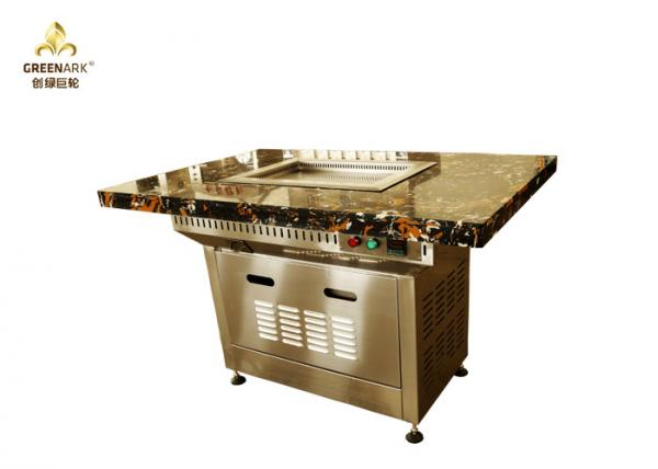 Marble Table Top Small Mobile Commercial Hibachi Grill For