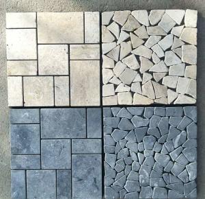 Beige Travertine Mosaic Stone