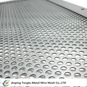 China Perforated Stainless Steel Sheet|T304 Mesh Angle 45° Customized Size on sale