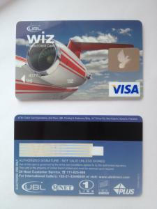 China Visa smart debit prepaid hologram hico magnetic stripe credit card supplier