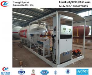 China hot sale!30M3 mobile skid lpg gas station for filling cars, wholesale price skid lpg gas station with auto lpg dispenser on sale