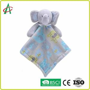China Adorable Soft Newborn Comforter Baby Teddy Blanket Comforter Elephant Comfort Blanket on sale