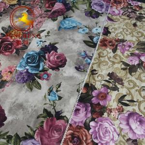 Quality China Factory Digital Print Flower Design Holland Velvet Fabric For Upholstery