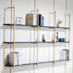Gold Aluminum Wall Shelf