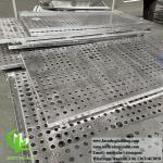 Exterior metal cladding aluminium sheet with perforation pattern round holes powder coated pvdf