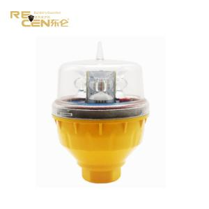 China High Intensity Reddot Flash Tower Polycarbonate Solar Aviation Light on sale