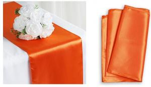 China 12x108 satin wedding table runner polyester table runner for banquet on sale