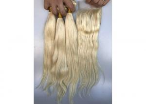 China Full Cuticle 100% Brazilian Virgin Hair / 22 Inch 613 Blonde Straight Hair on sale