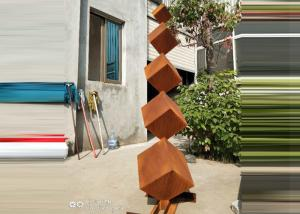Contemporary Design Art Metal Corten Steel Sculpture For Garden