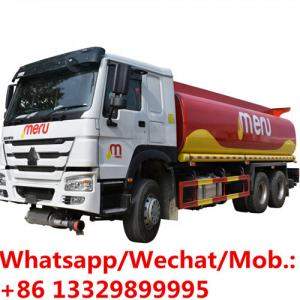 China New SINO TRUK HOWO 6*4 LHD diesel fuel tanker truck for sale, Best price mobile 336hp oil tanker transported truck on sale