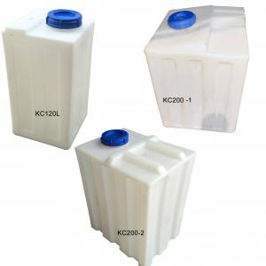 China Mobile transport square/rectangular portable plastic water storage tanks with outlet for drinking water liquids chemical on sale