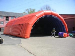 China new design inflatable tunnel tent/ new design inflatable sports tent with hat shape/ inflatable car tent  on sale
