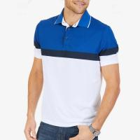 China Breathable Color Block Mens Polo Style Shirts Short Sleeve Slim For Summer on sale