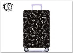China Custom Illustration Logo Luggage Case Cover Sublimation Printed Suitcase Protector Cover on sale