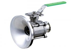 China Manual Or Electric 2 Inch 3 Piece Stainless Steel Ball Valve Industrial Tank Bottom on sale