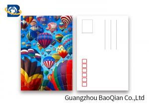 China Coloful Hot Air Balloon 3D Lenticular Postcards PET / PP Similar To Holograms on sale