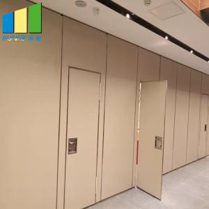 China Wood Folding Doors Movable Partition Walls For Office Hotel Decoration on sale