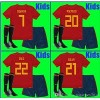 China Thailand KIDS Spain soccer jerseys 2018 world cup football Kits kids uniform with socks camisetas de futbol MORATA ASENS on sale