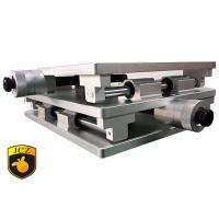 China laser Marker Manual linear positioning stage 220×330mm Use Linear Guide and Ball Screw on sale