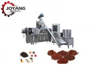 China Stable Fish Feed Production Machine , Floating Fish Feed Extruder Machine 26x2x3.5m Size on sale