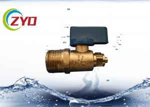 China Mini Brass Water Shut Off Valve , Copper Ball Valve For Water Air / Gas on sale