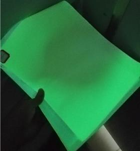 China Photoluminescent Glow In The Dark Pvc Sheet Apply In Printable Exit Sign 1.24m*45.7m / Roll on sale