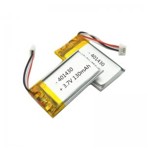 China 401430 180mAh 3.7 V Rechargeable Lithium Polymer Battery Pack on sale