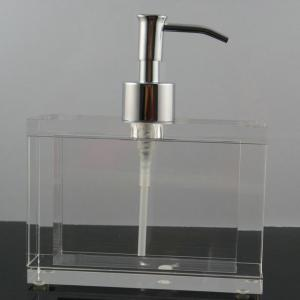 Clear Rectangle Plexigl Liquid Acrylic Soap Dispenser For Hotel