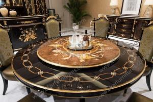 Rotating Dining Table What Features Of Antique Wooden Round 1 Veneer Inlay Marquetry 2 Mirror Finished 3 Wood Top 4 Carved