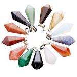 Hexagonal Column Gems Precious Stone Pendants For Jewelry Making