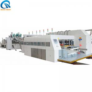 China flexo printing slotting rotary die cutting with folder glue inline on sale