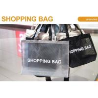 China Mesh Beach Bags, Grocery Produce Tote Bag With Zipper & Pockets For Gym, Picnic, Shopping Or Travel on sale