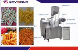 China Fried Kurkure Cheetos Snacks Food Extruder Making Machinery Large Output Capacity on sale