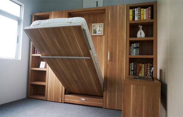 Soho Single E1 MDF Modern Wall Bed , Fold Up Wall Mounted ...