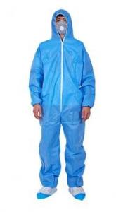 China Breathable Disposable Lab Gowns Acid Resistant Safety Protective Clothing on sale