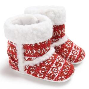 China New fashion non-woven knitted crochet winter warm Walking shoes baby booties knit on sale