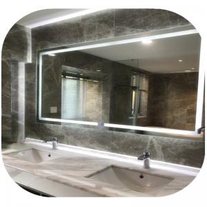 Modern Rectangular Silver Led Behind Mirror 110x80 Cold White Wall Vanity Mirror With Lights For Sale Led Behind Mirror Manufacturer From China 108507971