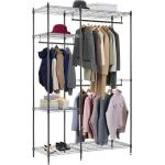 Folding Commercial Wire Shelving , Coat And Clothes Hanger Storage Rack Customized