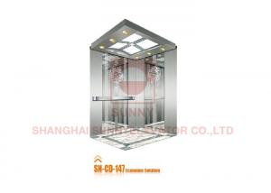 China Stainless Steel Home Passenger Elevator Cabin With Mirror Etching Design on sale