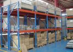 Multi Level Industrial Steel Storage Racks , Custom Size Metal Racking Systems