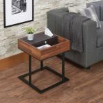 Sara II Espresso Living Room End Tables 27lbs Walnut Sandy Black