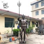 Large Poseidon Bronze Statue Greek Sea God Sculpture Garden Art Metal Decoration Outdoor